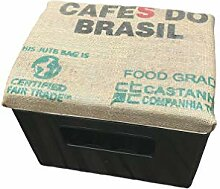 Bierkastensitz Kaffeesack gepolstert Handarbeit,