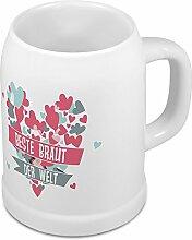 Bierkrug Beste Braut der Welt - Motiv Herz -