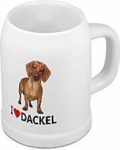 Bierkrug Dackel - Bierkrug mit Hundebild Dackel -