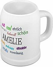 Bierkrug mit Name Amelie - Positive Eigenschaften