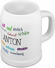 Bierkrug mit Name Anton - Positive Eigenschaften