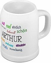 Bierkrug mit Name Arthur - Positive Eigenschaften