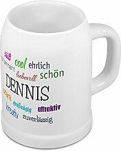 Bierkrug mit Name Dennis - Positive Eigenschaften