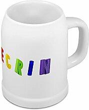 Bierkrug mit Name Ecrin - Design Magnetbuchstaben - Namens-Tasse, Becher, Maßkrug