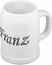Bierkrug mit Name Franz - Design Chrom-Schriftzug