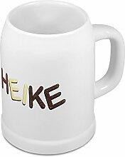 Bierkrug mit Name Heike - Design Schokoladenbuchstaben - Namens-Tasse, Becher, Maßkrug
