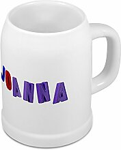 Bierkrug mit Name Joanna - Design Magnetbuchstaben - Namens-Tasse, Becher, Maßkrug