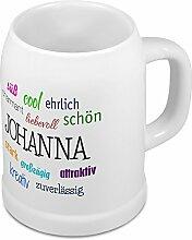 Bierkrug mit Name Johanna - Positive Eigenschaften