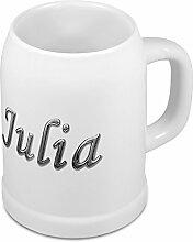 Bierkrug mit Name Julia - Design Chrom-Schriftzug