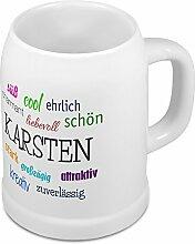 Bierkrug mit Name Karsten - Positive Eigenschaften