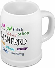 Bierkrug mit Name Manfred - Positive Eigenschaften