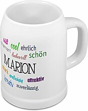 Bierkrug mit Name Marion - Positive Eigenschaften
