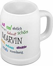 Bierkrug mit Name Marvin - Positive Eigenschaften