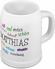 Bierkrug mit Name Matthias - Positive