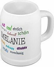 Bierkrug mit Name Melanie - Positive Eigenschaften