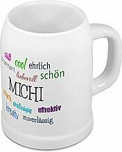 Bierkrug mit Name Michi - Positive Eigenschaften