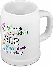 Bierkrug mit Name Peter - Positive Eigenschaften