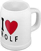 Bierkrug mit Name Rolf - Design I Love Rolf -
