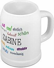 Bierkrug mit Name Sabine - Positive Eigenschaften