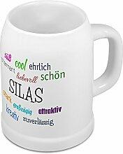Bierkrug mit Name Silas - Positive Eigenschaften