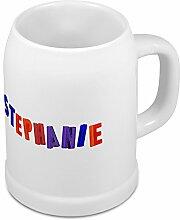 Bierkrug mit Name Stephanie - Design Magnetbuchstaben - Namens-Tasse, Becher, Maßkrug