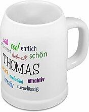 Bierkrug mit Name Thomas - Positive Eigenschaften