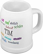 Bierkrug mit Name Tim - Positive Eigenschaften von
