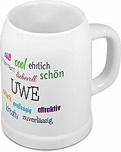 Bierkrug mit Name Uwe - Positive Eigenschaften von