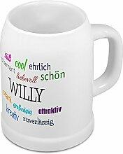 Bierkrug mit Name Willy - Positive Eigenschaften
