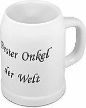 Bierkrug mit Namen Bester Onkel der Welt - Design