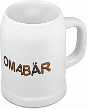 Bierkrug mit Namen Omabär - Motiv Schokoladenbuchstaben - Namenstasse, Becher, Maßkrug, Humpen