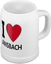 Bierkrug mit Stadtnamen Ansbach - Design stilvollem I Love Ansbach - Städte-Tasse, Becher, Maßkrug