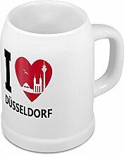 Bierkrug mit Stadtnamen Düsseldorf - Design