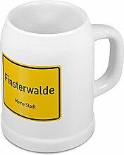 Bierkrug mit Stadtnamen Finsterwalde - Design Ortschild - Städte-Tasse, Becher, Maßkrug