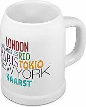 Bierkrug mit Stadtnamen Kaarst - Design Famous Citys in the World - Städte-Tasse, Becher, Maßkrug