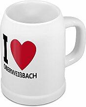 Bierkrug mit Stadtnamen Oberweißbach - Design stilvollem I Love Oberweißbach - Städte-Tasse, Becher, Maßkrug