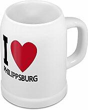 Bierkrug mit Stadtnamen Philippsburg - Design stilvollem I Love Philippsburg - Städte-Tasse, Becher, Maßkrug