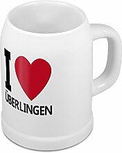 Bierkrug mit Stadtnamen Überlingen - Design stilvollem I Love Überlingen - Städte-Tasse, Becher, Maßkrug