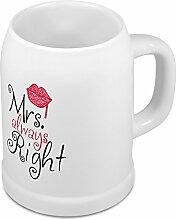 Bierkrug Mrs. Always Right - Witziger
