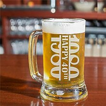 Bierkrug oder Glas zum 40. Geburtstag, Geschenk