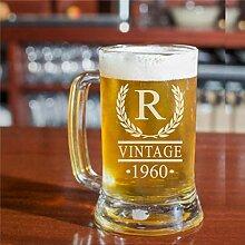 Bierkrug oder Glas zum 60. Geburtstag, Geschenk