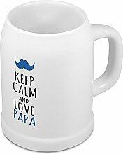 Bierkrug Papa - Motiv Keep Calm and Love Papa - Namenstasse, Becher, Maßkrug, Humpen