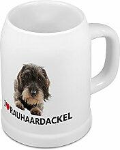 Bierkrug Rauhaardackel - Bierkrug mit Hundebild