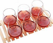 Bierkrug Zaiyi WM-Zubehör Crystal Clear Glass Haushalt Cup Set 6 Packs Bar Wein Bier Tasse,Transparen