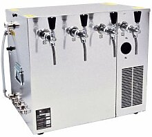 Bierkühler Nasskühlgerät 4 leitig, 100 Liter/h