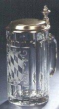 Bierseidel Bier-Krug 0,5 L Glas mit Zinndeckel