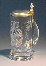 Bierseidel Bier-Krug 0,5 L Kristall Bayern