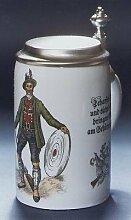 Bierseidel Bier-Krug 0,5 L Schützen Porzellan