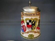 Bierseidel Bier-Krug 0,5 L Wappen der Franken