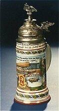 Bierseidel Bier-Krug Reservistenkrug mit Bodenbild